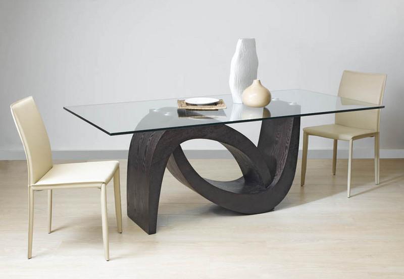 Table de s jour salle manger contemporaines mobilier de for Salle a manger wave