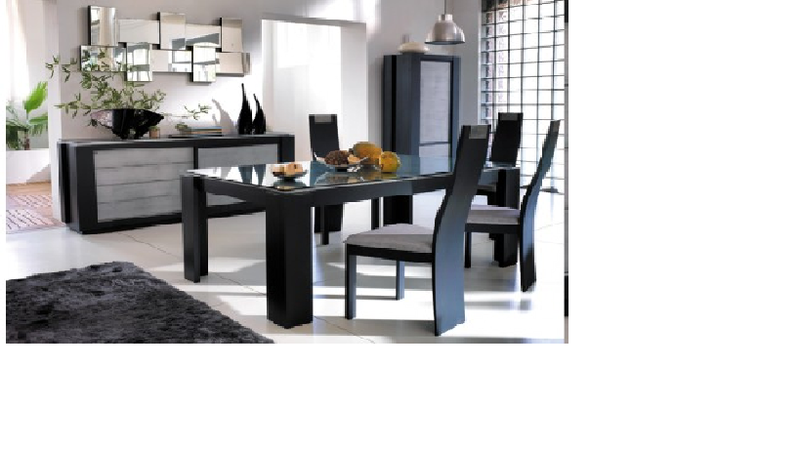 table salle a manger mobilier de france mobilier de salle manger table six chaises deux. Black Bedroom Furniture Sets. Home Design Ideas