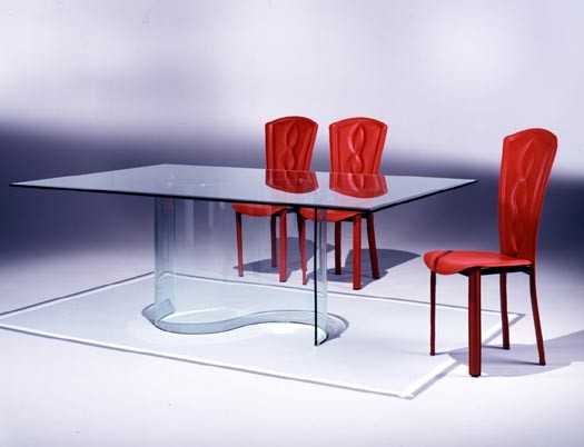 Table de s jour salle manger contemporaines mobilier de for Salle a manger wave